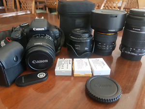 Quick sell Canon EOS Rebel 600D/T3i + lens + accessories