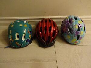3 Kid's Bike Helmets