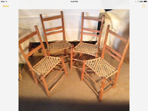 Set of Quebec antique chairs