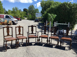 Vintage / Antique 1930's  Solid Wood Chairs (Table for free)
