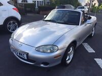 MAZDA MX-5 - MX5 BEAUTIFUL CONDITION, VERY LOW MILEAGE 36K, FSH MOT UNTIL MAR 2017 DRIVES LOVELY!