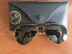 RayBan Aviator Gold Frame Green Lenses Bought it From Italy