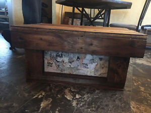 Hand crafted barn wood accent table