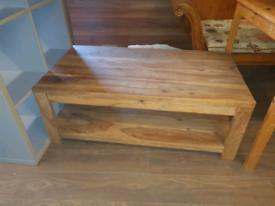44. Solid oak coffee table