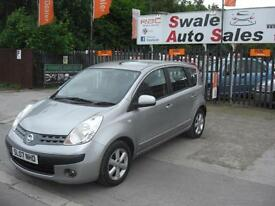 2007 NISSAN NOTE 1.4 SE IDEAL FAMILY 1ST CAR LOW INSURANCE GROUP LOW MILEAGE