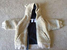 H&M 2-4m fleecy jacket