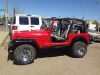 1995 jeep yj and a 2003 infinity g35