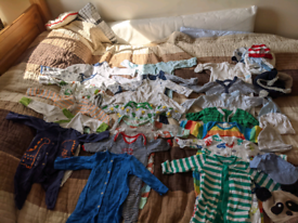 Bunch of baby boy clothes 1-3 m.