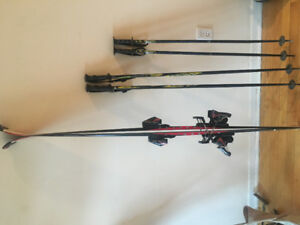 "SKIS AND POLES 65$ 158cm ""100/62/86"""