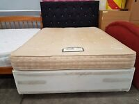 Rest Assured kingsize mattress and divan bed base with drawers