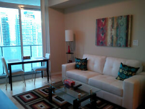 September: Furnished downtown 1 Bedroom + den@ Maple Leaf Square