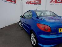 2006 06 PEUGEOT 206 CC 1.6 16V ALLURE CABRIOLET.GREAT COLOUR & WHITE LEATHER .