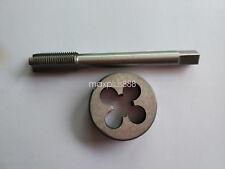 1pc HSS Machine 3//8-36 UNS Plug Tap and 1pc 3//8-36 UNS Die Threading Tool