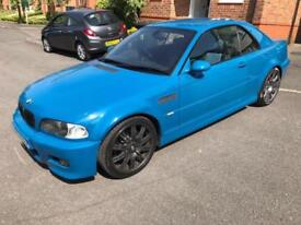 2002 BMW M3 E46 LAGUNA SECA BLUE CONVERTIBLE MANUAL 101K SPARES OR REPAIR