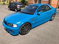 2002 BMW M3 E46 LAGUNA SECA BLUE CONVERTIBLE MANUAL 101K SPARES OR REPAIR