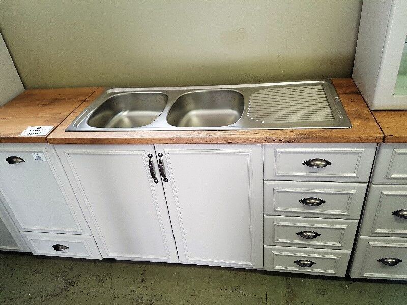 Brand New Maidstone Kitchen Double Sink Cabinet With Drawers