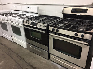 GAS RANGES! - ASSORTED STOCK- 1 YEAR WARRANTY