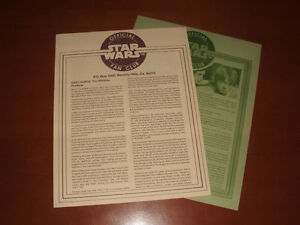 Vintage Official Star Wars Fan Club Newsletters & Letter Stratford Kitchener Area image 2