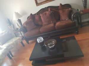 Ashley's sofa set with table