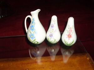 Antique Pottery Vinegar and Salt & Pepper