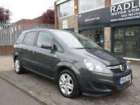 2013 Vauxhall Zafira 1.6i 16v VVT ( 115ps ) Exclusiv 5DR 63REG Petrol Grey