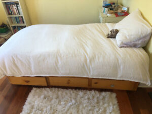 2 Twin bed and mattresses