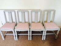 Newly upcycled dining chairs X 4 - open to offers