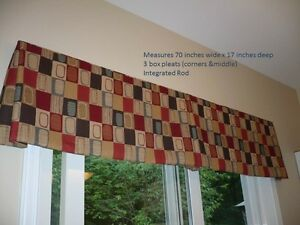 Valance on integrated rod in beautiful autumnal colours