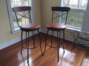 2 Quality Bar Stools with backs