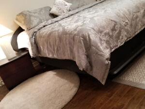 King-size 7 pieces bed room set  with  new Serta mattress