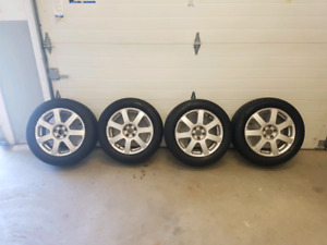 Volkswagen rims and  205/55/16 tires
