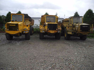 3 Volvo 860 Articulated Dump Trucks for $15,000
