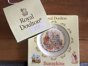 royal doulton bunnykins plate and cup