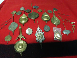 ASSORTED VINTAGE CLOCK PENDULUMS - PARKER PICKERS -