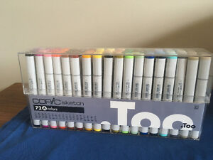 Set of 72 Copic Sketch markers