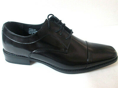 Giorgio Venture 6215 LEATHER MAN DRESS SHOE Black London Cap Toe-Italian Design Black Italian Design Dress Shoes