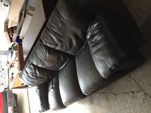 Three Seat Leather Couch