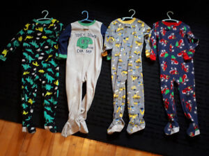 Boys 4T one piece fleece PJ's