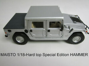 MAISTO 1/18 SPECIAL EDITION HUMMER H1 HARD TOP SILVER
