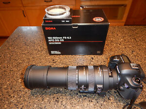 Sigma 150-500mm telephoto lens Canon Mount Prince George British Columbia image 1