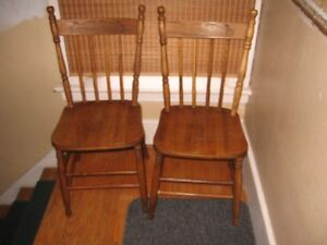 pair of press back chairs