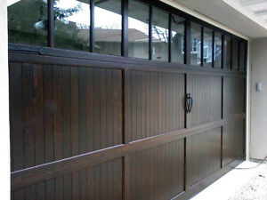 2 8x7 Custom Wood garage doors installed BEST PRICES