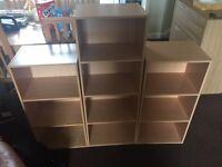 Set of three shelves