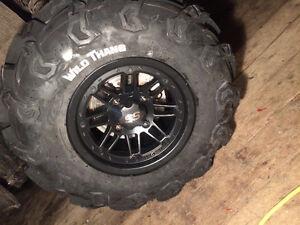 """12"""" ss matte black rims 27"""" tires"""