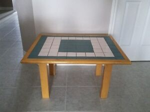 HANDMADE SOLID WOOD CERAMIC TILE TOP COFFEE TABLE London Ontario image 2