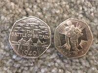 2 Battle of Britain 50p piece