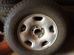 265/70/17 WINTER TIRES ON RIMS FOR F150