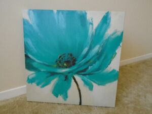 GORGEOUS PIER 1 IMPORTS TEAL BLOSSOM PICTURE *** CAN DELIVER