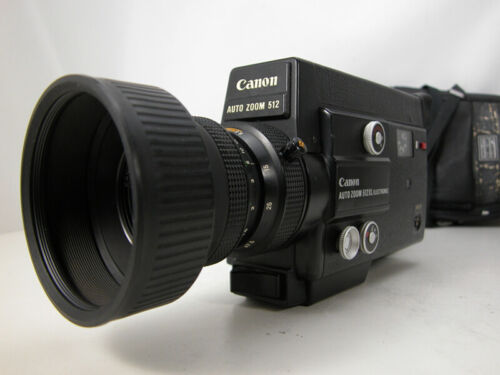 Tested & Working CANON Super 8 MOVIE CAMERA W/Rare Slow Motion Feature & Case