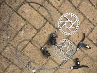 Tektro disc brake set.